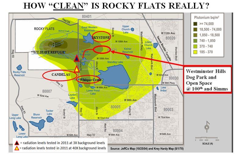 Area Rocky Flats Contamination Map Rocky Flats Candelas Inspiring